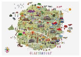 Festival Map Glastonbury Festival Map Katie Cardew Illustrations