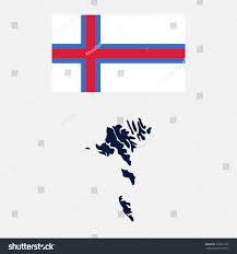 Navy Flag Meanings Navy Blue Faroe Islands Map Flag Stock Vector 703921339 Shutterstock