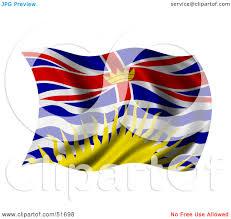 Flag British Columbia Royalty Free Rf Clipart Illustration Of A Wavy British Columbia