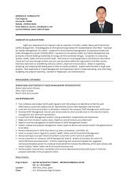 Sample Resume Format For Civil Engineer Fresher by Sample Resume Of Civil Engineering Fresher Free Resume Example
