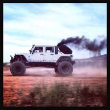 diesel jeep rollin coal mbrp project rattletrap cummins swaped coal rollin jeep wicked
