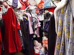 clean out that closet and donate or reuse your used clothing