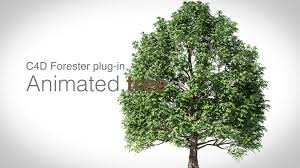 animated tree and leaves in cinema 4d with forester in