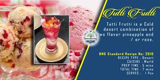 tutti cuisine tutti frutti recipe bng hotel management kolkata