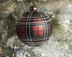 plaid ornaments etsy