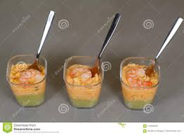 cuisine de a à z verrines verrines with crab avocado and shrimp stock image image of