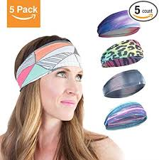 workout headbands 5 pack workout running headbands for women power