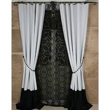 Custom Blackout Drapes Black And White Solid Bedroom Curtains