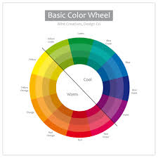 warm blue color the color wheel mint creatives design co