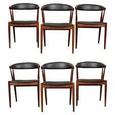 six rosewood dining chairs johannes andersen at 1stdibs