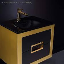 Designer Bathroom Sink Gold Leather Modern Bathroom Vanity 24 Inch