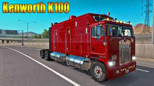 kenworth truck interior ats kenworth k100 truck mod with interior accessories youtube