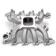 mustang intake manifold edelbrock victor jr pi intake manifold 99 04 mustang gt 28385