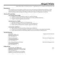 finance internship resume sample best accounting internship resume