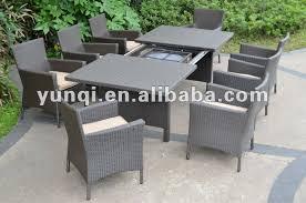 tavoli da giardino rattan set in rattan da giardino outsunny pcs rattan wicker dining sofa