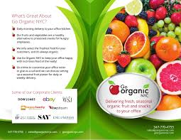 fruit delivery nyc go organic corporate brochure