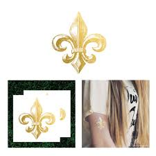 fleur de lis flash tattoo gold ink tattoo