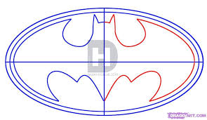 how to draw batman logo step by step drawing guide by
