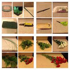 How To Make Floral Arrangements How To Make A Christmas Flower Arrangement 13 Steps With Pictures