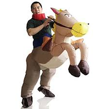amazon com inflatable rider costume fancy dress funny horse