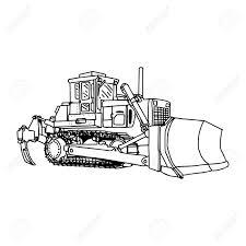 illustration vector doodles hand drawn loader bulldozer excavator