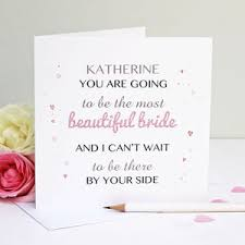 wedding card from groom to personalised wedding day cards notonthehighstreet