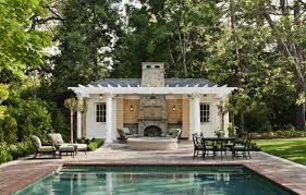 house plan pool cabana guest plans shingle style and garden unique