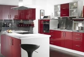White Modern Kitchen Ideas Kitchen Dark Red Kitchen Cabinet White Tile Flooring Electric