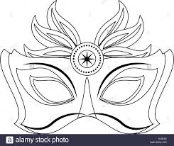 black and white mardi gras masks mardi gras mask stock vector illustration vector image