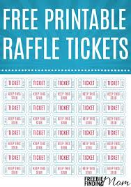 raffle ticket templates make your own raffle tickets free