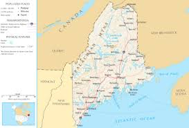 map of maine maine