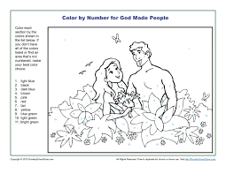 god made people color by number children u0027s bible activities