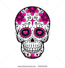 day dead skull skull sugar flower stock vector 339401459