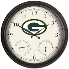 green bay packers antique finish wall clock clocks home office green bay packers antique finish wall clock