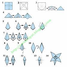 cara membuat bunga dari lipatan kertas membuat origami bunga lili taman pendidikan prasekolah cahaya