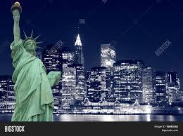 statue liberty manhattan skyline image u0026 photo bigstock