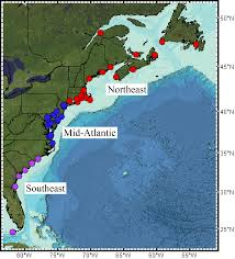 Map Of Usa East Coast by An Extreme Event Of Sea Level Rise Along The Northeast Coast Of