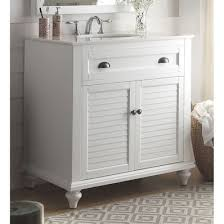34 Bathroom Vanity Glennville 34 Traditional Single Sink Bathroom Vanity In White By