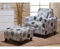 Accent Chair And Ottoman Set Exterior Cool Black Accent Chairs And Ottoman Set With Stainless
