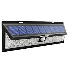 driveway motion sensor light mpow solar light solar powered motion sensor lights 54 led 120