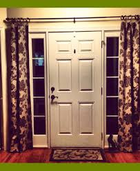 Curtains For Door Sidelights by Door Sidelight Curtain Rods Nucleus Home
