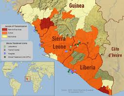 africa map 2014 ebola distribution western africa october 1st 2014 michelson