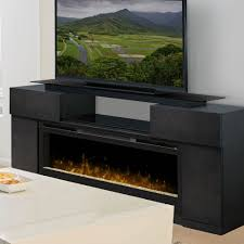 concord dark grey electric fireplace media console gds50 1243sc