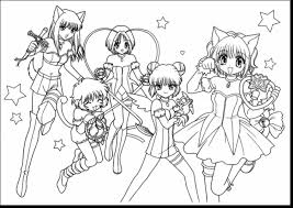 amazing tokyo mew anime coloring pages with manga coloring pages