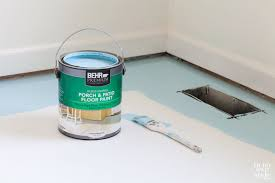 how to paint subfloor in my own style