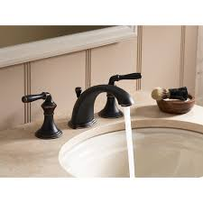bronze widespread bathroom faucet kohler k 394 4 2bz devonshire oil rubbed bronze two handle