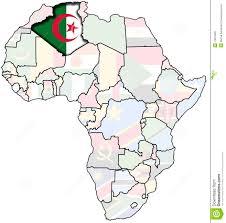Algeria On Map Algeria On Africa Map Stock Illustration Illustration Of Country