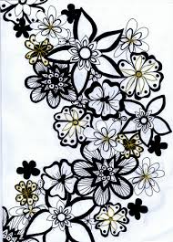 viewing gallery for flowers black and white drawing clipart