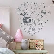 chambre lapin sticker enfant bienvenue dans ma chambre petit lapin
