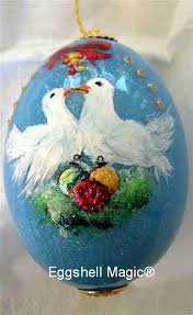 personalized bird ornaments by eggshell magic